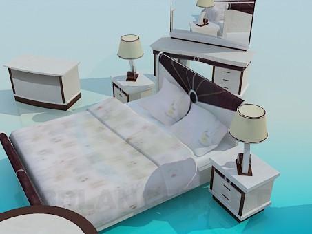 3d model Set of bedroom furniture - preview