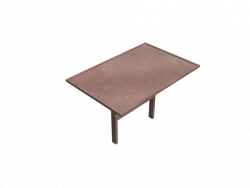 Table Metal Street 1,5x1m 01