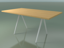 Rectangular table 5431 (H 74 - 90x160 cm, legs 180 °, veneered L22 natural oak, V12)