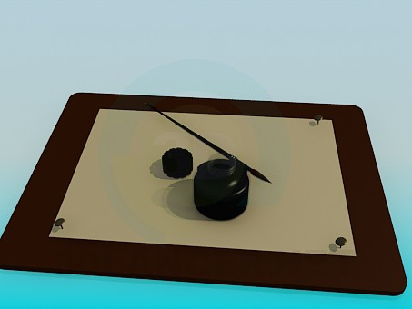 3d model Cojín de dibujo - vista previa
