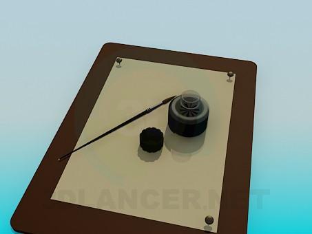 modelo 3D Cojín de dibujo - escuchar