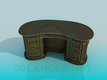 3d modeling Desk model free download