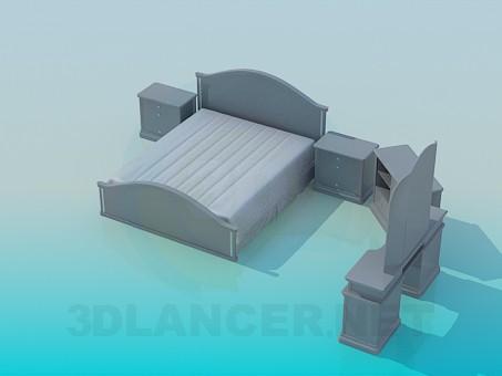 modelo 3D Los muebles en el dormitorio - escuchar