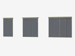Interroom A4 partition (champane transparent black)