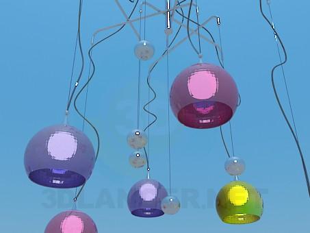 3d модель Комплект светильников – превью