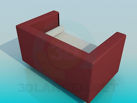 3d model Sofa with rollers - preview