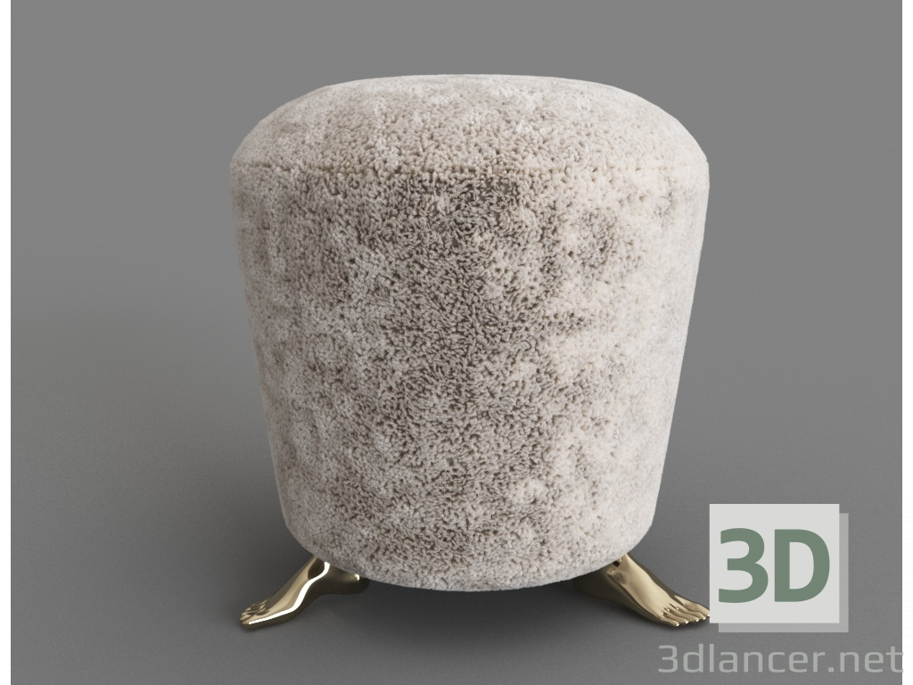 3d model Foot 06.076 White - preview