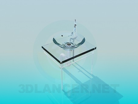 3d модель Скляний умивальник – превью