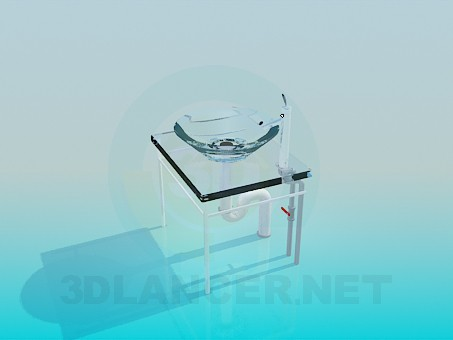 3d model Glass wash basin - preview