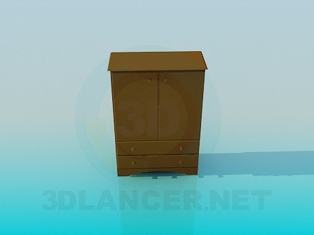 3d modeling Low Cabinet model free download