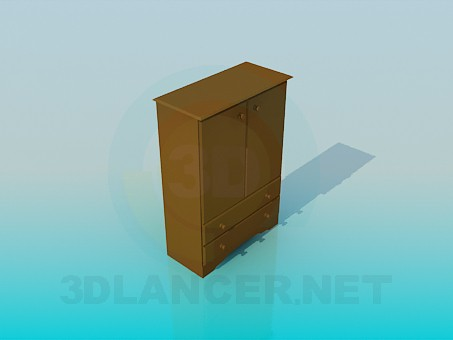 3d model Low Cabinet - preview