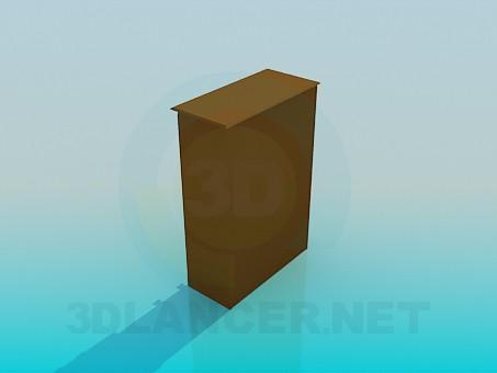 3d модель Низкий шкафчик – превью