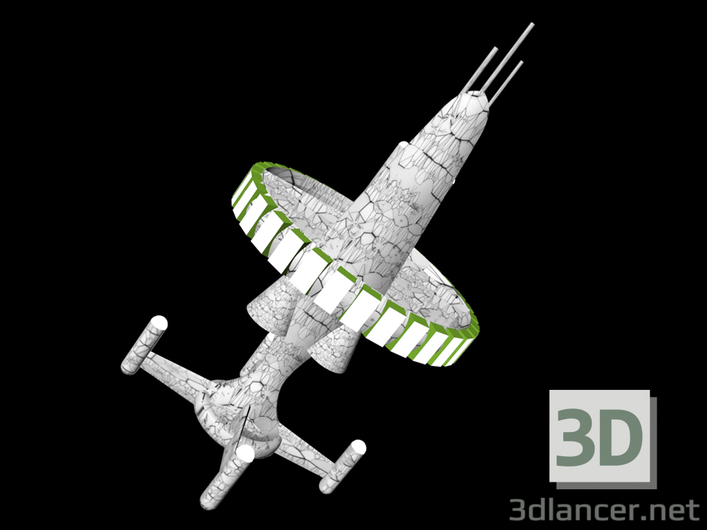 3d Military spacecraft model buy - render