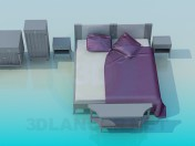 Bett, Kommode Schubladen und im Set
