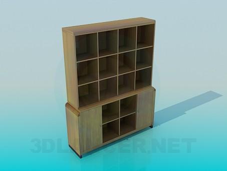 Modelo 3d Estante para livros - preview