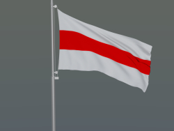 Flag of the Republic of Belarus on a flagpole