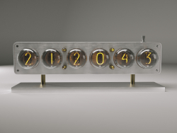 Часы на лампах ИН-4.IN4 Glow Tube Nixie Electron Tube Clock