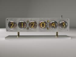 Reloj con lámparas IN-4.IN4 Glow Tube Reloj Nixie Electron Tube