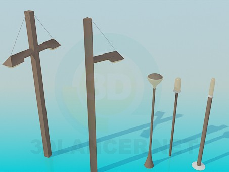 3d model Street lights - preview