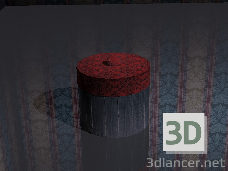 3d model casket with a cloth - preview