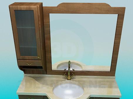 3d model Washstand, dresser, mirror - preview