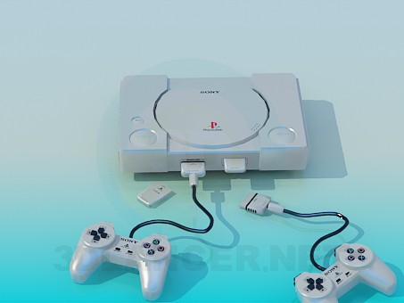 3d model Game console SONY - preview