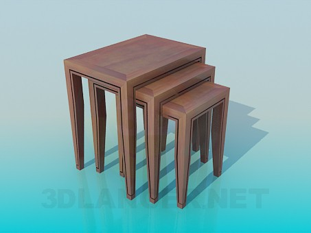 3d model Stools in a set - preview