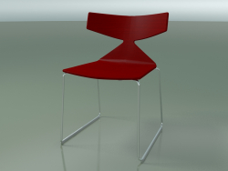 Stackable chair 3702 (on a sled, Red, CRO)