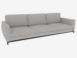 Sofa Triple with fabric upholstery Andersen (288x103x82)