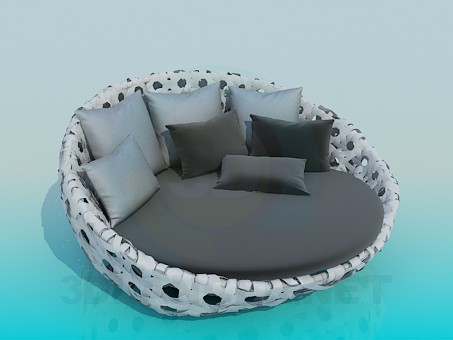 3d model Round Sofa - preview