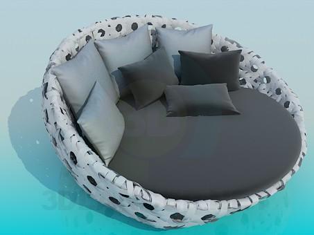 3d модель Круглая софа – превью