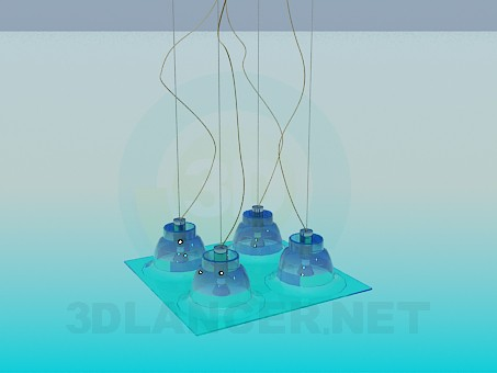 descarga gratuita de 3D modelado modelo Luminaria plana la Plaza
