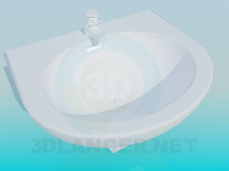 3d модель Умивальник з краном – превью