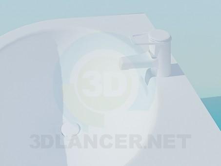 modelo 3D Fregadero con grifo - escuchar