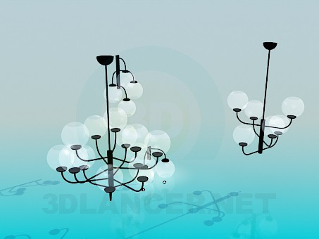 3d model Chandeliers in complete - preview