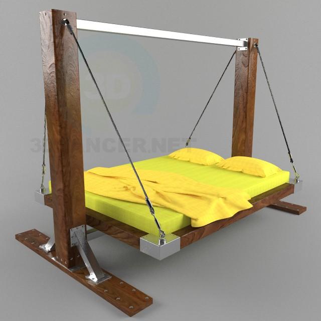 3d модель Раскачивающаяся кровать Housefish – превью