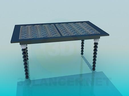 3d модель Стол декоративный – превью