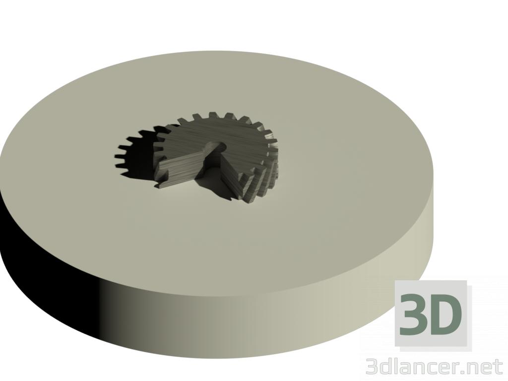 3d model gear - preview