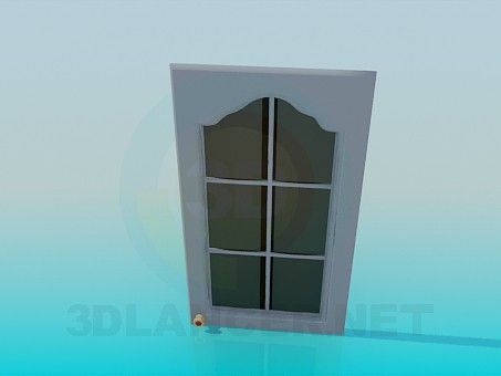 3d model Door mounted in a kitchen cabinet - preview