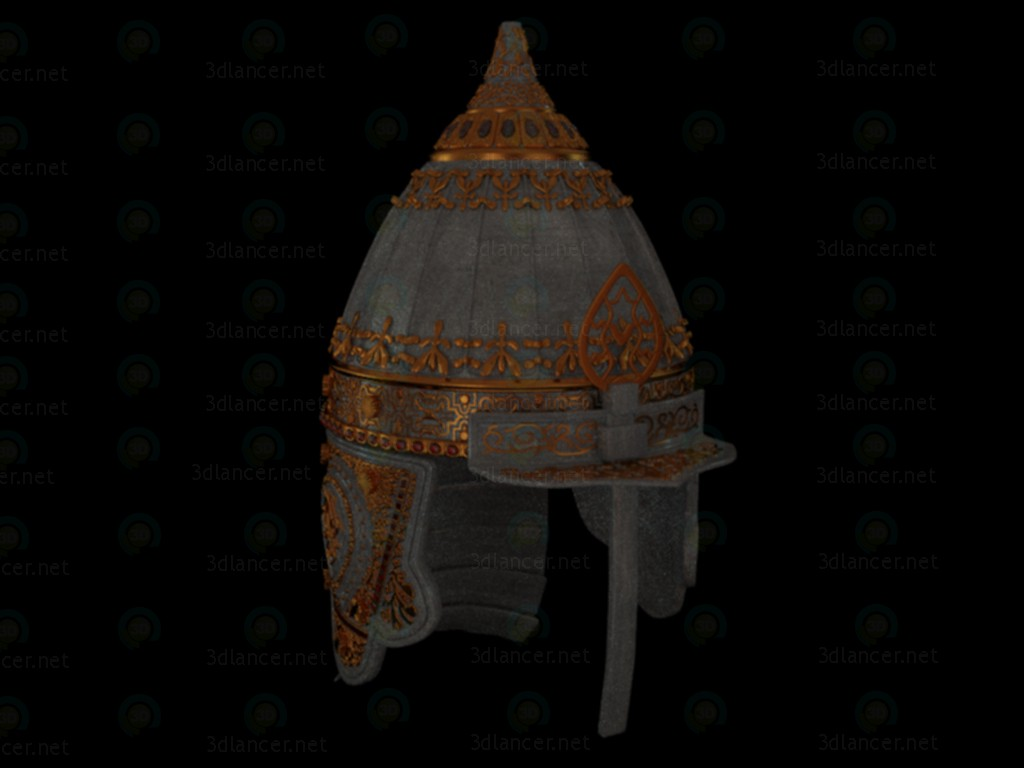 3d Parade helmet Russian prince. age 10-12 model buy - render