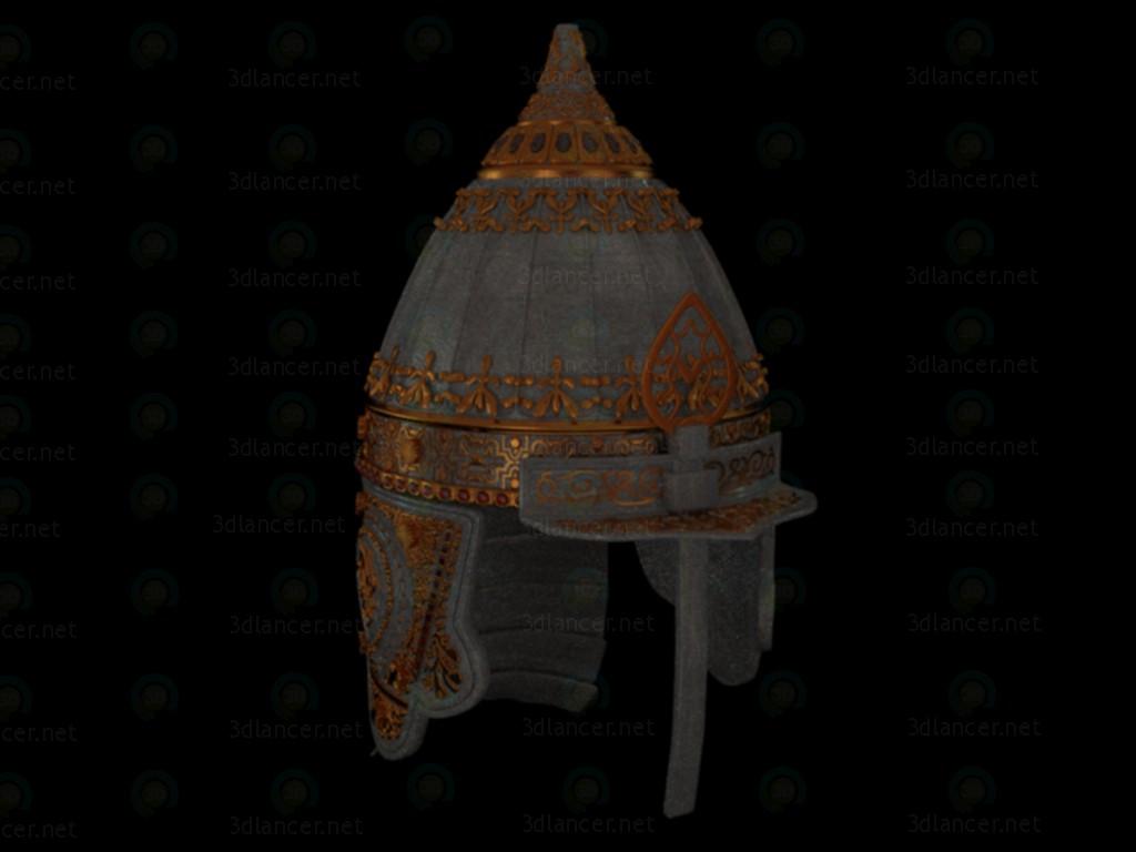 3d Парадный шлем русского князя. 10-12 век модель купить - ракурс