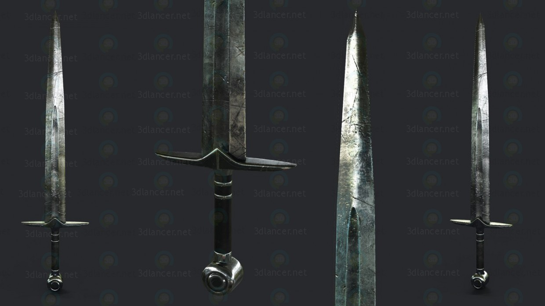 3d modeling Steel-Sword model free download