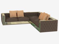 Sofá de cuero de esquina Magnolia