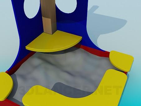 3d модель Песочница – превью