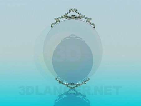 3d model The mirror on the wall - preview