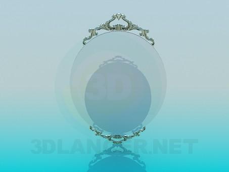 3d модель Зеркало на стену – превью