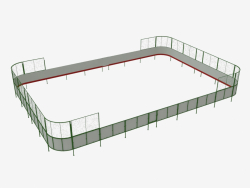Hockey court (plywood, net behind goal 21x14) (7931)