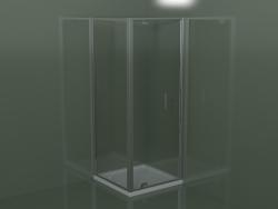 Cabina doccia GA + GF in telaio con porta a battente