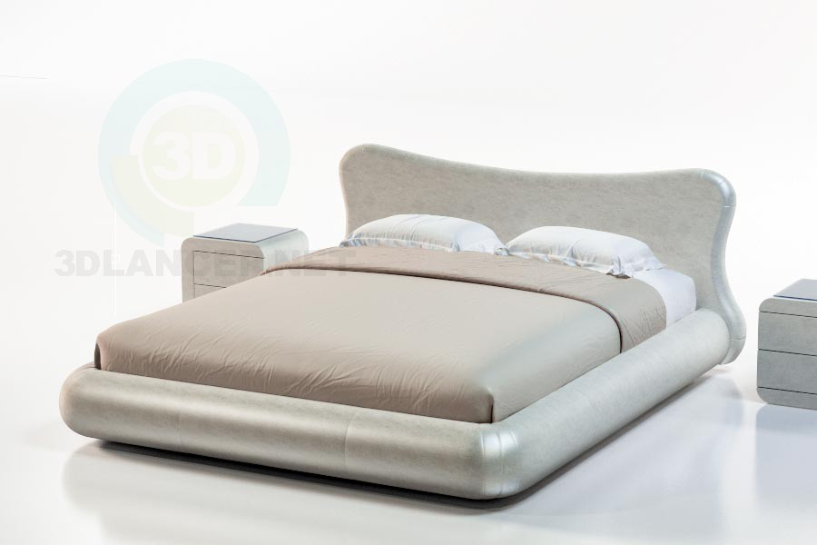 3d model Dominica Bed - preview