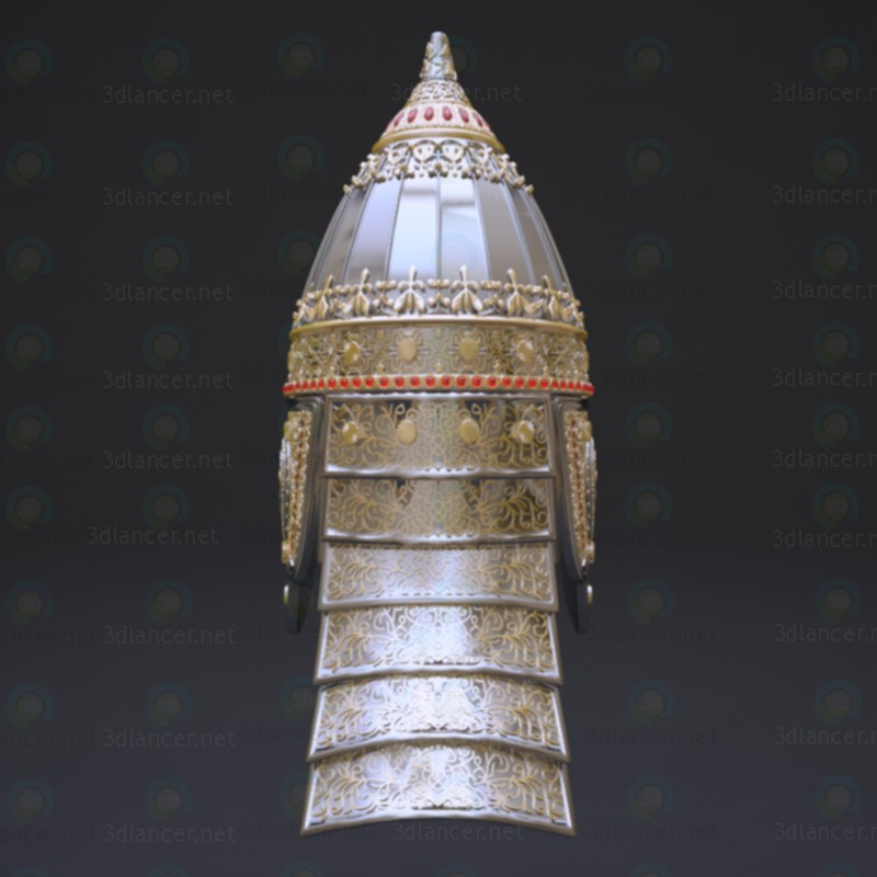 3d Russian helmet Prince (parade). 10-12 century model buy - render